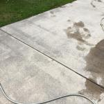 BEFORE - Driveway stains